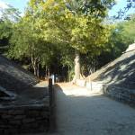 Klein speelveld van de Maya