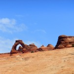 "Utah's symbool ""Delicate Arch"" in Arches National Park"