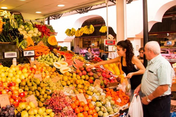 Fruitstal op de Mercado
