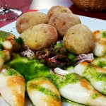 Inktvis en Canarische aardappeltjes