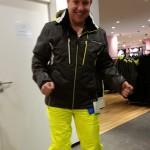 Mark is helemaal klaar om te skiën!