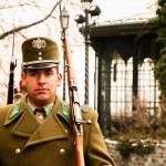 Een wachter in Boedapest