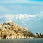 Kasteel bij het meer van Bled