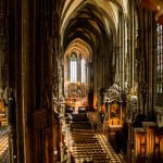 Binnenin de Stephansdom in Wenen