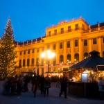 Schloss Schönbrunn met een kerstmarkt
