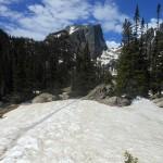 Nog veel sneeuw in juni