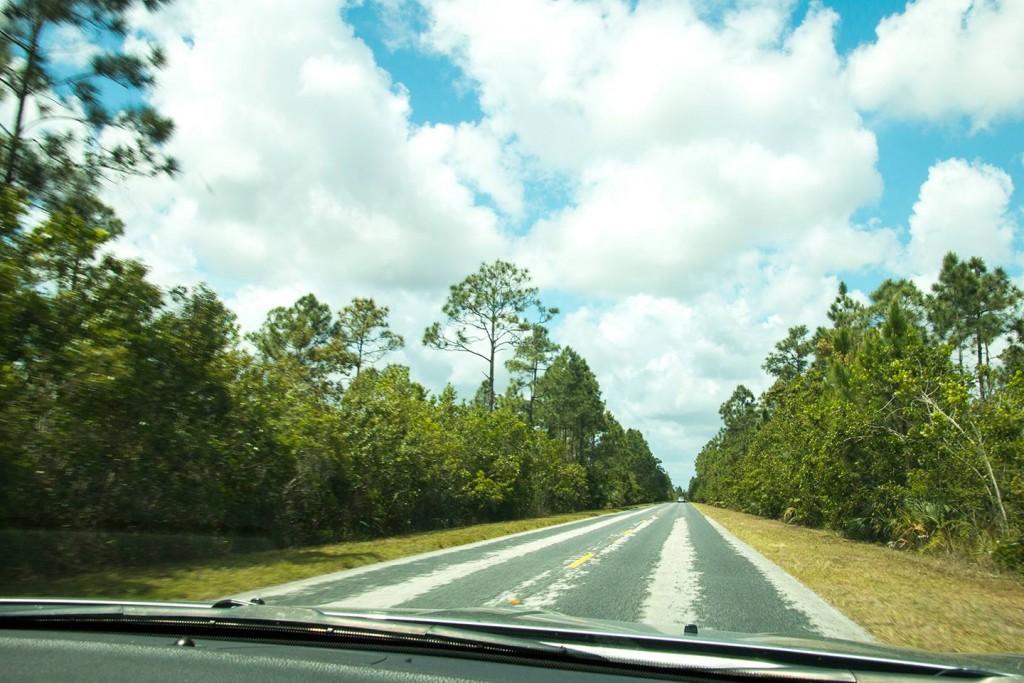Rijden door Everglades National Park