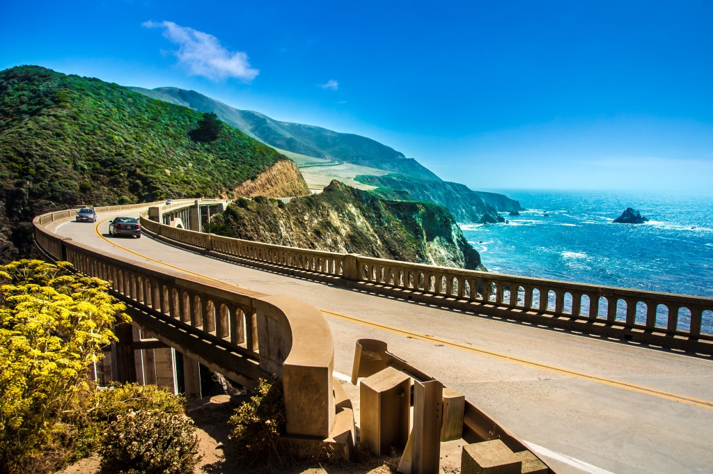 Bixby Creek Bridge op de Highway 1 in Amerika
