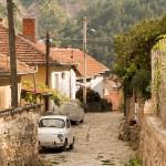 Straat in Kratovo, Macedonië