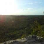 Uitzicht vanaf de piramide van Coba