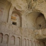 Uitgehakte rotsen in openluchtmuseum Göreme