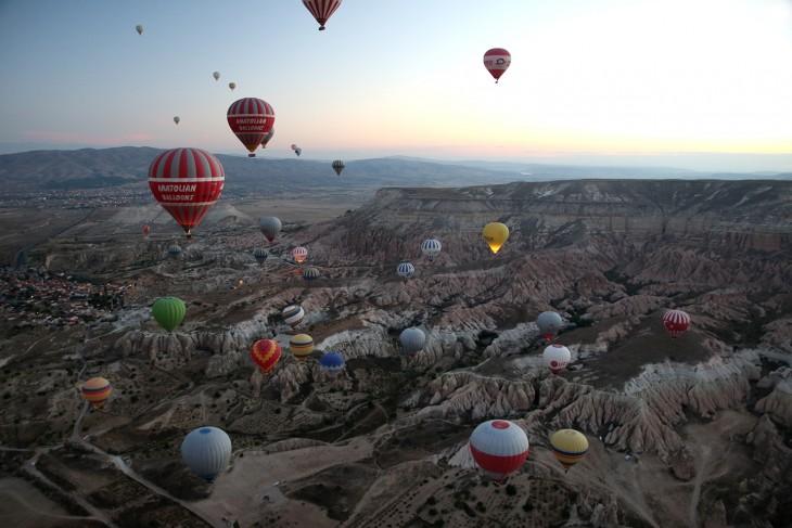 Ballonnen over Cappadoccië