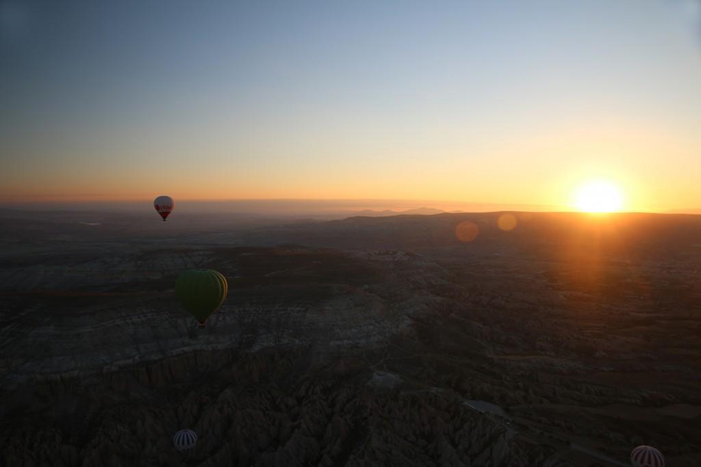 Zonsopgang over Cappadoccië