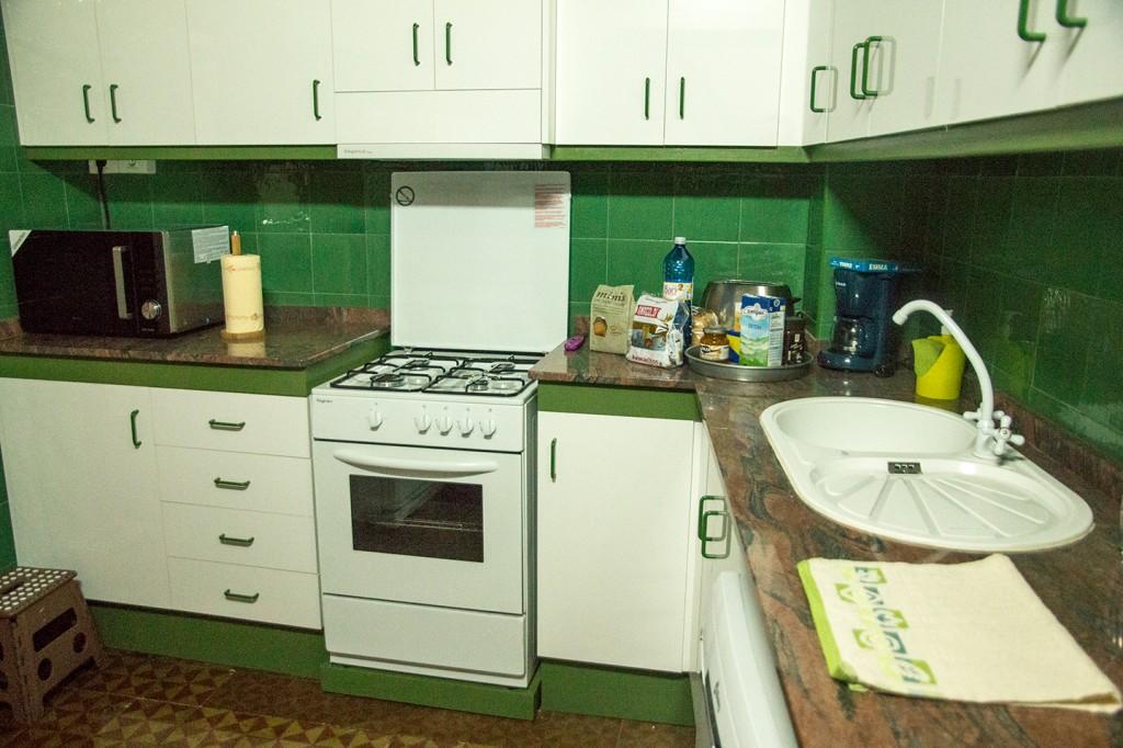 Keuken met ontbijtspullen