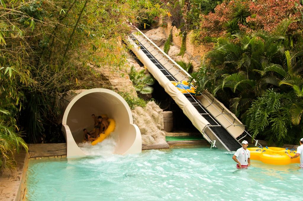 Eén van de attracties in het Siam Park