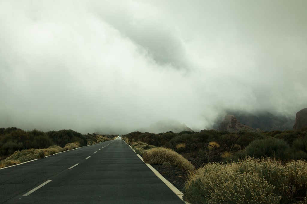 Veel wind en veel mist onderweg