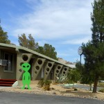 In Beatty (Nevada) overnachtten we in een alien motel