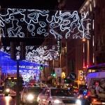 Kerstverlichting op de Gran Via