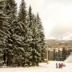 Een witte kerst in Harrachov, Tsjechië