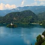 Meer van Bled in Slovenië zoals dit er in de zomer uitziet