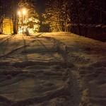 Ons sneeuwparcours naar beneden