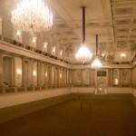 De winterrijzaal in de Spaanse rijschool in Wenen