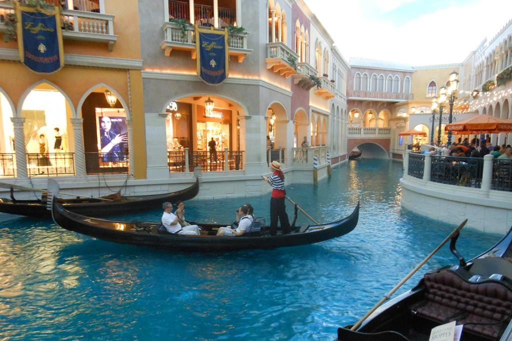 In Las Vegas hebben ze gewoon Venetië nagemaakt in een hotel