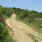 Dit zou volgens Google Maps de weg naar Albanië zijn