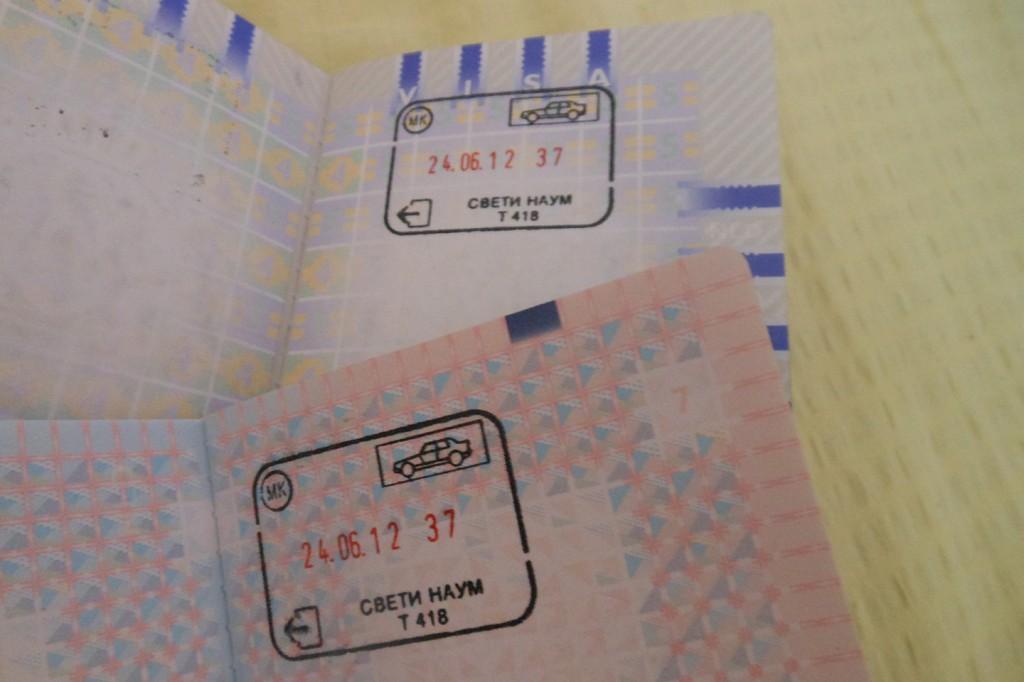 Stempels in ons paspoort!