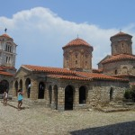 De kerk Sveti Naum in Macedonië