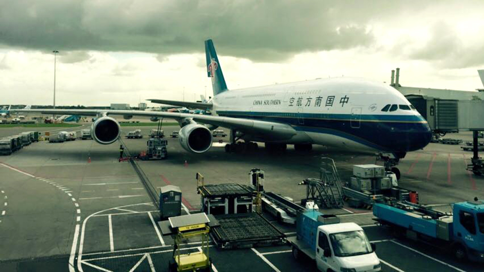 Dreamliner op Schiphol