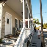 Oude houten huisjes in Key West, Florida