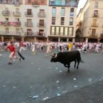 Stierenrennen in Teruel, Spanje