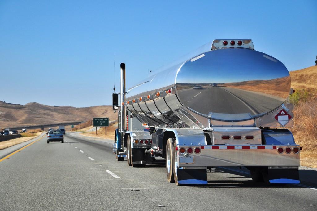 Road Train op de snelweg in Amerika